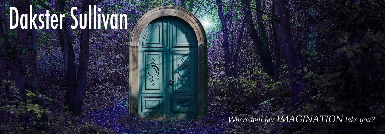 Dakster Sullivan photoshop piece blue door in purple foresta