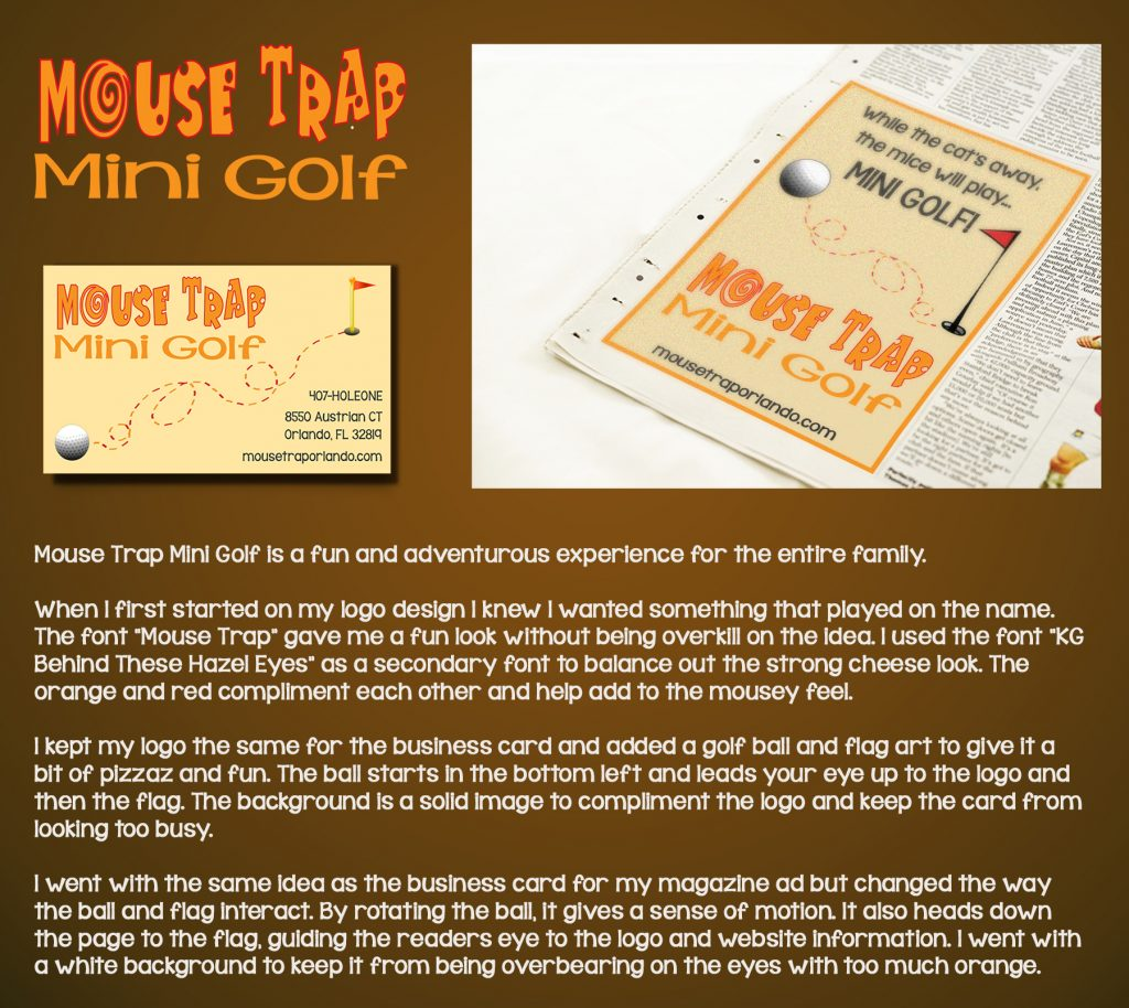 Mouse Trap Mini Golf Pitch